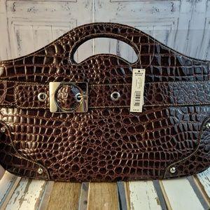 nwt new apt 9 purse handbag bag tote travel wristl